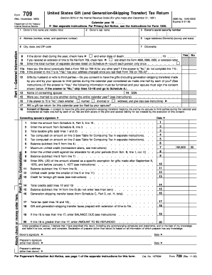 IRS 709 form | PDFfiller Irs Form Example Gift Tax Return on irs form 4562 example, irs form 2441 example, irs form 4835 example, irs form 5498 example, irs form 1040 example, irs form 8829 example,