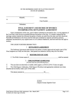 Final Divorce Decree Form  Prank Divorce Papers