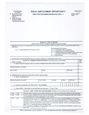 Fillable Online eeoc Sample EEO - 1 Form Fax Email Print - PDFfiller