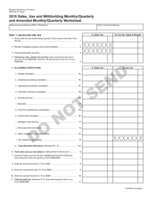 Fillable Online michigan 5095, 2015 Sales, Use and Withholding ...