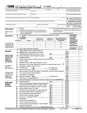 2008 Form IRS 1040 Fill Online, Printable, Fillable, Blank - PDFfiller
