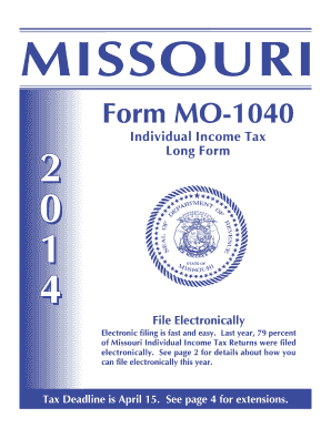 Form Mo 1040 Instructions 2014 - Fill Online, Printable, Fillable ...