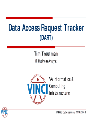 Data Access Request Tracker (DART) - hsrd research va