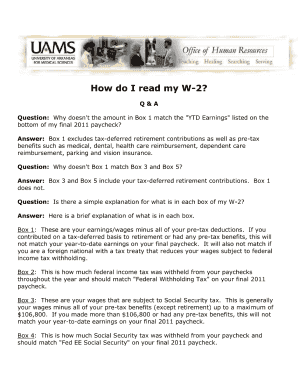 Uams W2 - Fill Online, Printable, Fillable, Blank   PDFfiller