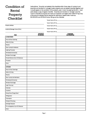 rental property inspection checklist free
