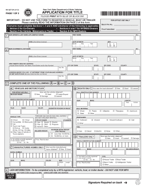 Mv 50 Ny - Fill Online, Printable, Fillable, Blank | PDFfiller