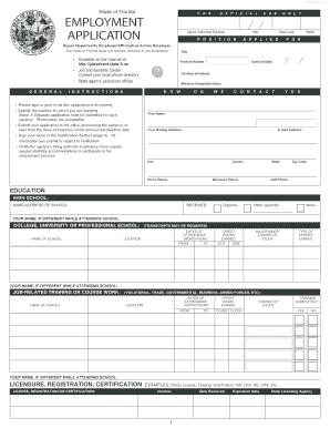 7 printable generic job application form templates fillable