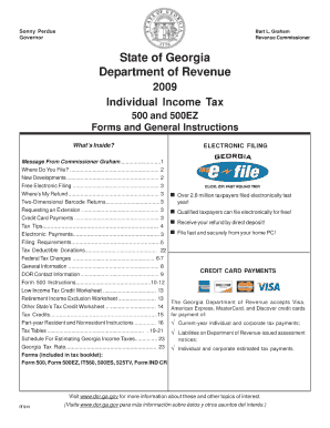 Georgia Department Of Revenue 2011 Form 500 - Fill Online ...