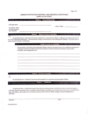 fillable arrest forms