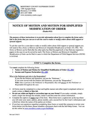 Motion to modify child support example printable templates to fill notice of motion and motion for simplified modification of order altavistaventures Gallery