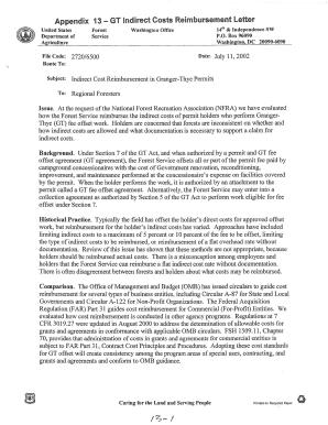Appendix 13 - GT Indirect Costs Reimbursement Letter Fill