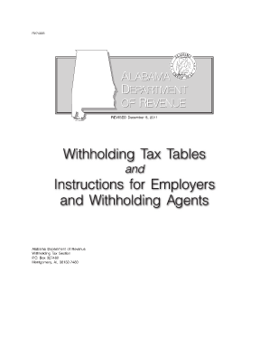 State Of Alabama Department Of Revenue Employers Tax Guide ...