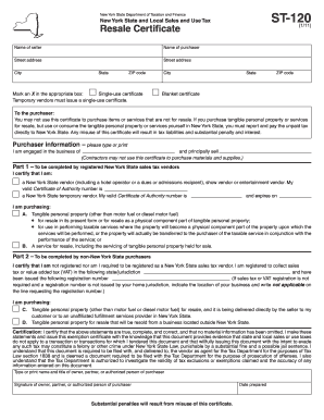 2012 Form NY DTF ST-120.1 Fill Online, Printable, Fillable, Blank ...