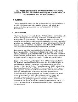 va form 10 2641 Fillable Online prosthetics va VHA PROSTHETIC CLINICAL MANAGEMENT ...
