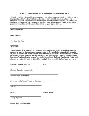 Consent Form For Medical Treatment