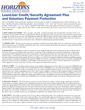 loanliner credit and security agreement form
