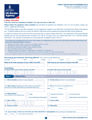 uk visitor forms 2012-2018