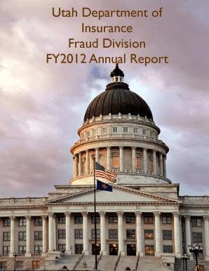 Utah Department of Insurance Fraud Division FY2012 Annual ...