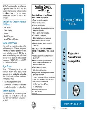 Fillable Online dmv ca Fast Facts Registration Versus Planned Non ...