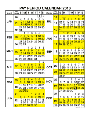 period calendar 2016 fill online printable fillable blank