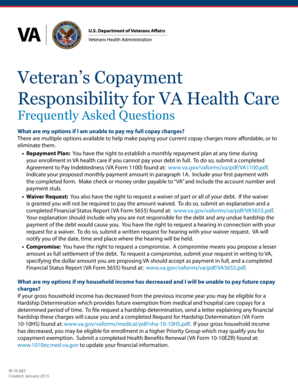 Veteran's Copayment Responsibility for VA Health Care Frequently ... - va