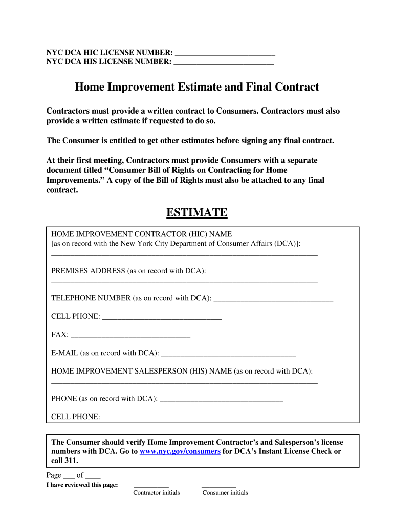 photograph about Free Printable Home Improvement Contracts known as Residence Development Deal - Fill On the web, Printable, Fillable