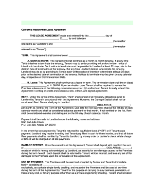 online lease renewal california form