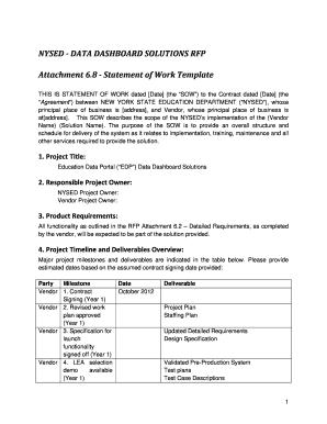 23 printable statement of work template forms fillable samples in