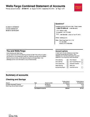 Superior Create Fake Wells Fargo Bank Statement. Rate This Form Regarding Blank Bank Statement Template