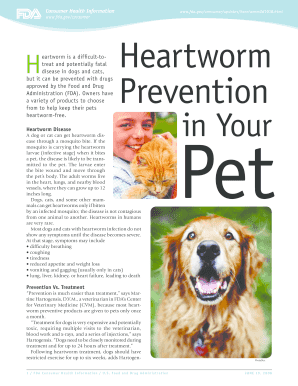 Heartworm Prevention in Your Pet - Food and Drug Administration - fda