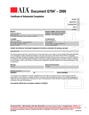G Form Fill Online Printable Fillable Blank PDFfiller - Aia contract template