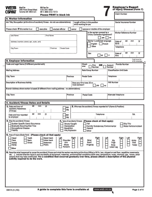 Wsib Form 7 - Fill Online, Printable, Fillable, Blank ...