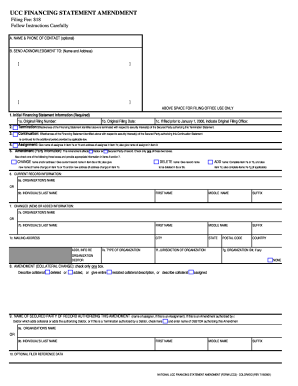 Ucc 1 Filing Colorado - Fill Online, Printable, Fillable, Blank ...