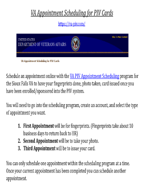Va pivcom fill online printable fillable blank pdffiller related content 1st piv card project home us department of veterans affairs colourmoves
