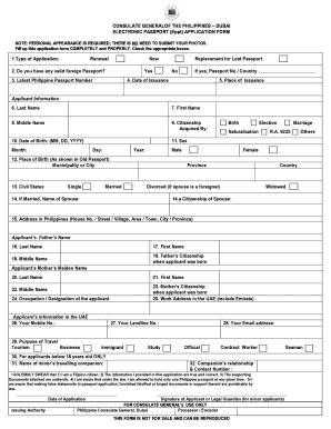 100541475 Pport Application Form Fill Up Block Letter on