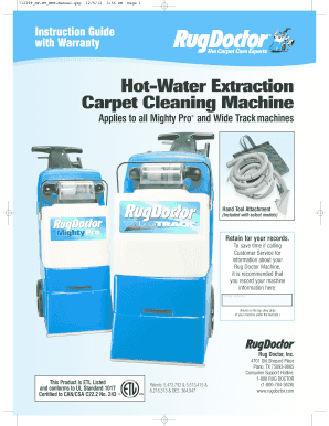 Hot-Water Extraction Carpet Cleaning Machine - Home Depot Fill