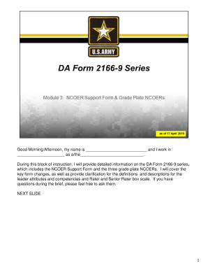 Da Form 2166 9 1 Fillable - Fill Online, Printable, Fillable ...