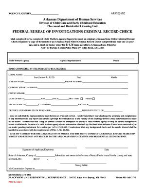fbi background check form - Fillable & Printable Samples