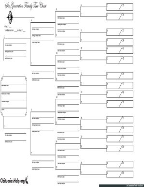 Genealogy Chart Template Forms Fillable Printable Samples For