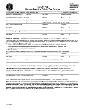 2011 Form MA DoR M-706 Fill Online, Printable, Fillable, Blank ...