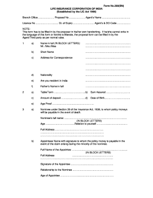 Lic Form 300 For Adults Or Kids - Fill Online, Printable, Fillable ...