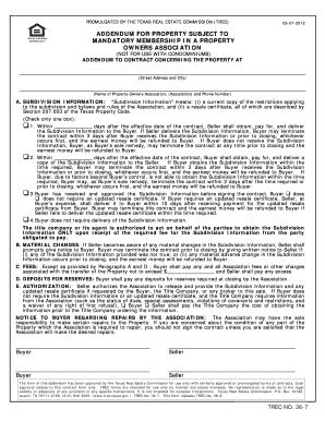 Texas Association Of Realtors Pet Addendum - Fill Online ...