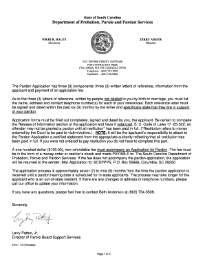 Sample Pardon Letter Template Printable Governmental Templates To