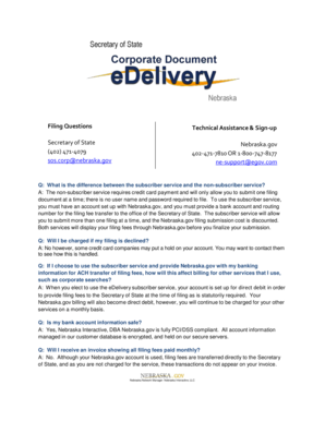 FAQ Corporate Document eDelivery