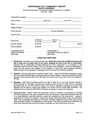 Printable rental agreement template word - Edit, Fill Out ...