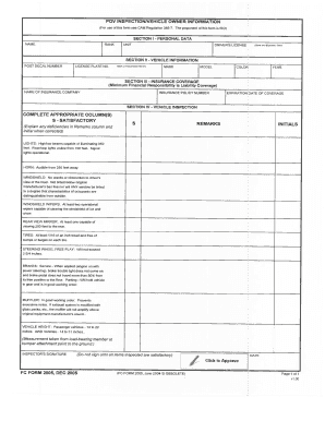 army pov inspection form Pov Inspection Worksheet - Fill Online, Printable, Fillable, Blank ...