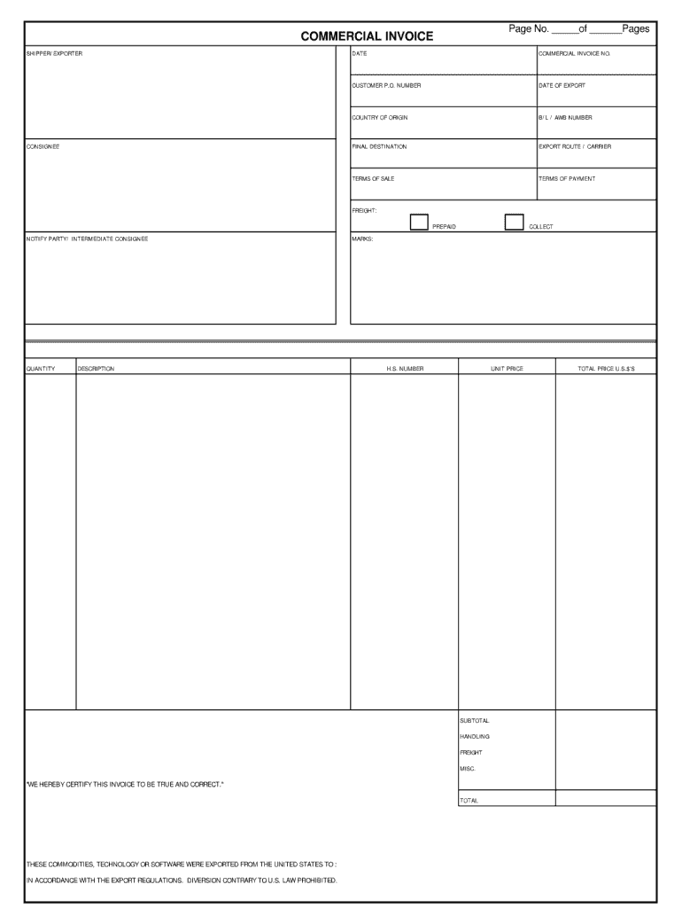 picture about Printable Commercial Invoice named Industrial Monthly bill - Fill On the net, Printable, Fillable, Blank