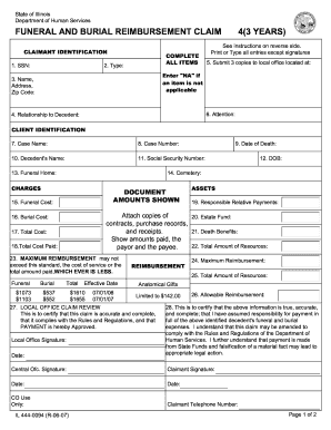 funeral claim form