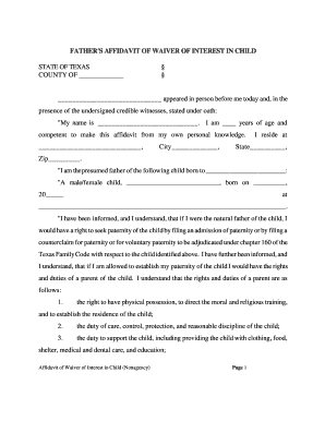 Bill Of Sale Form Texas General Affidavit Templates - Fillable ...