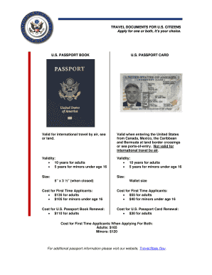 difference between passport book and card form